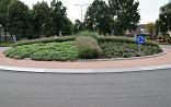 Rotonde met Pennisetum