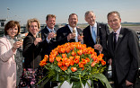 4e generatie bij de doop van de tulp op Schiphol